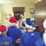 Young athletes spread Christmas cheer