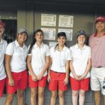 Lady Cards win first conference golf match