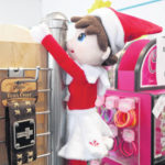 Chance, the chamber elf, visiting Yadkin Valley Chamber of Commerce members with chance for people to win prizes