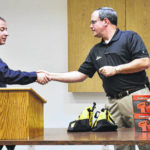 Elkin Rescue Squad members receive lifesave awards, sports injury kits from Childress Institute