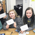 Student spread cheer through cards