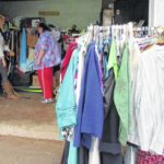 Mom's Clothes Closet to hold pintos and cornbread dinner