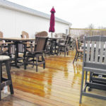 Outdoor furniture from recycled jugs creates ease