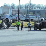 No injuries in rollover Sunday at Walmart