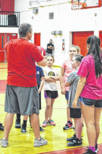 East Wilkes hosts girls basketball camp